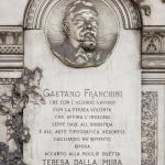 Monumento funebre Franchini (dettaglio) 1880 - Carlo e Attilio Spazzi - Cimitero Monumentale di Verona