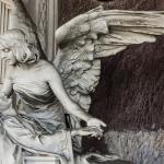 Monumento funebre Antonini ex Pindemonte  Moscardo (dettaglio) 1898 - Carlo e Attilio Spazzi - Cimitero Monumentale di Verona