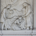 Monumento funebre Angela Erbisti (dettaglio) 1852 - Verona, Cimitero Monumentale