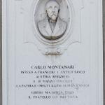 Monumento a Carlo Montanari, 1867, Verona, Palazzo Montanari