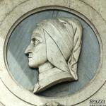 Monumento a Dante Alighieri - 1865, Rovigo, Palazzo Comunale (dettaglio)