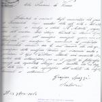Lettera di Gr. Spazzi per proporre l'acquisto di una statua a Sanmicheli eseguita dal fratello, 23-9-1865
