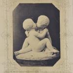 Il bacio ingenuo 1856 - Grazioso Spazzi, foto Lotze, fototeca Biblioteca Civica