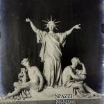 Gruppo con Gloria, Scienza ed Arte, pantheon Ingenio Clarisn 1902 – Carlo e Attilio Spazzi – Cimitero Monumentale VR (non più esistente)